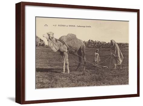 Scenes and Types - Arabic Ploughing--Framed Art Print