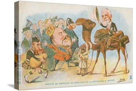 Edward Vii, French President, Emile Loubet--Stretched Canvas Print