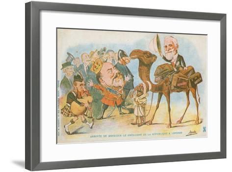 Edward Vii, French President, Emile Loubet--Framed Art Print