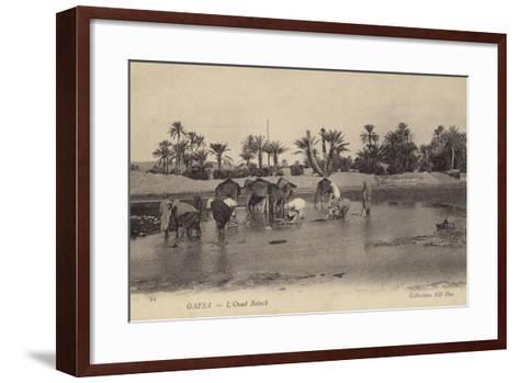 Oued Baiech at Gafsa in Tunisia--Framed Art Print