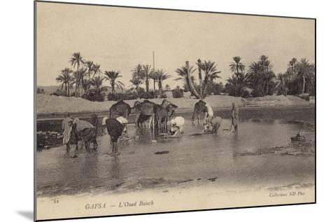 Oued Baiech at Gafsa in Tunisia--Mounted Photographic Print