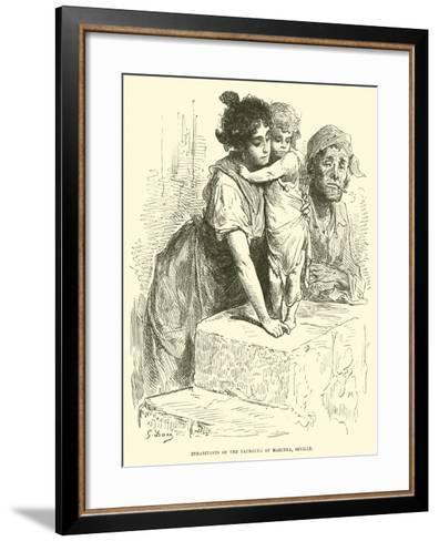 Inhabitants of the Faubourg of Marcena, Seville--Framed Art Print