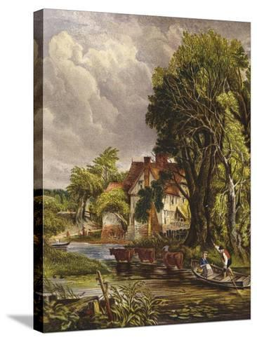 Valley Farm-John Constable-Stretched Canvas Print