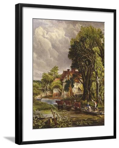 Valley Farm-John Constable-Framed Art Print