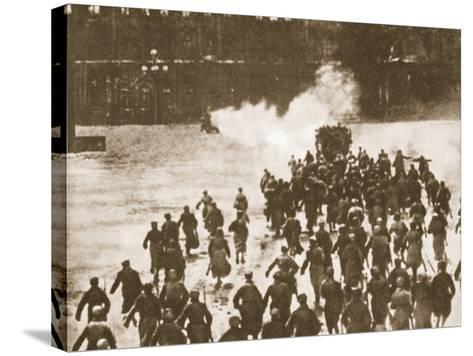 Storming of the Winter Palace, Petrograd, 1917--Stretched Canvas Print