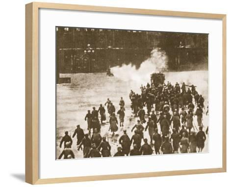Storming of the Winter Palace, Petrograd, 1917--Framed Art Print