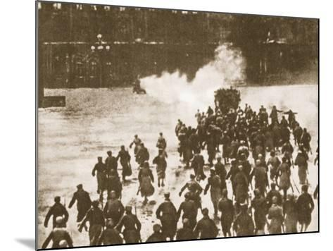 Storming of the Winter Palace, Petrograd, 1917--Mounted Photographic Print