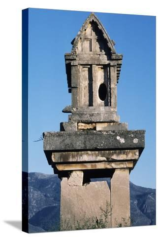 Lycian Gravestone, Xanthos--Stretched Canvas Print