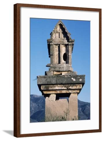 Lycian Gravestone, Xanthos--Framed Art Print