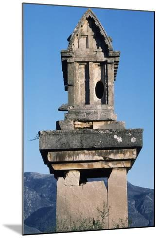 Lycian Gravestone, Xanthos--Mounted Photographic Print
