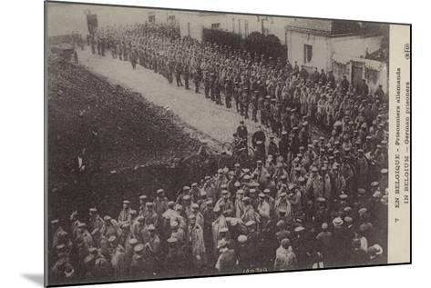 German Pows, Belgium, World War I--Mounted Photographic Print