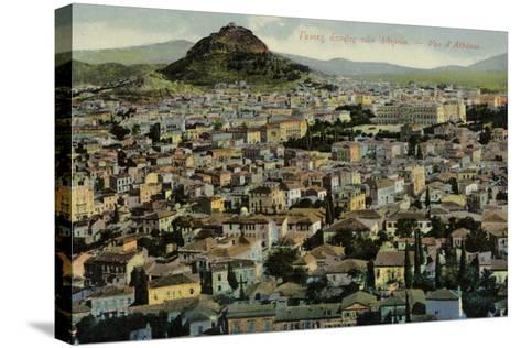 A View of Athens--Stretched Canvas Print