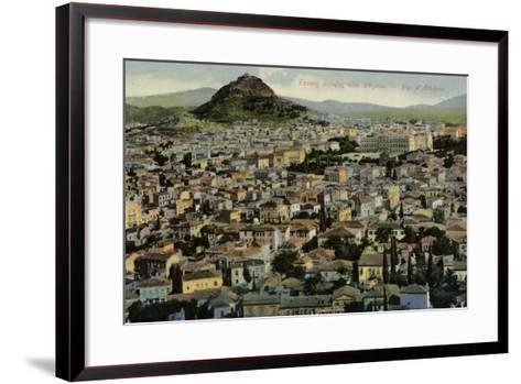 A View of Athens--Framed Art Print