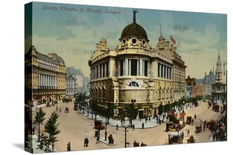 Gaiety Theatre and Strand, London--Stretched Canvas Print