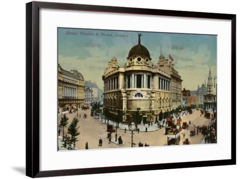 Gaiety Theatre and Strand, London--Framed Art Print