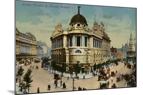 Gaiety Theatre and Strand, London--Mounted Photographic Print