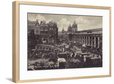 Friday Morning, Outside Smithfield Market, London--Framed Art Print