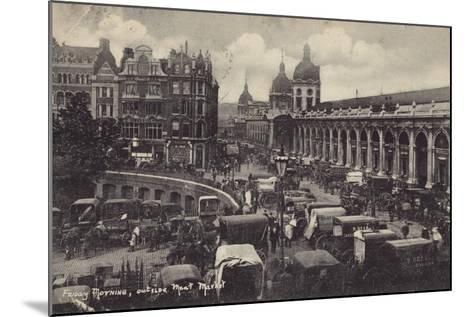 Friday Morning, Outside Smithfield Market, London--Mounted Photographic Print