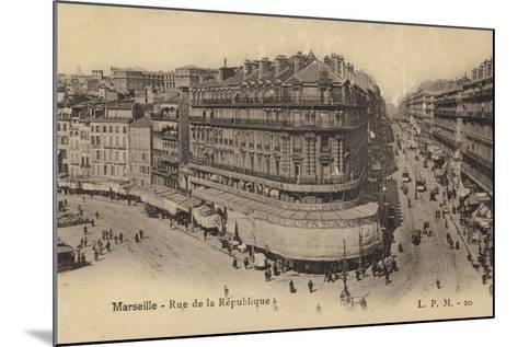 Postcard Depicting the Rue De La Republique--Mounted Photographic Print
