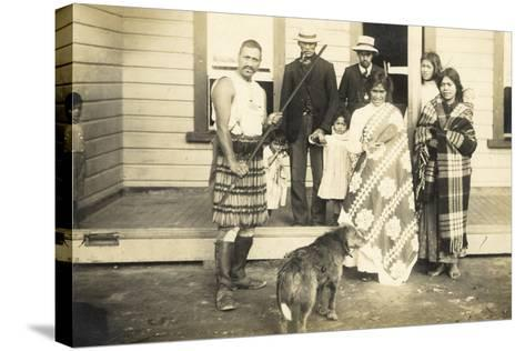 Family Group, C.1920--Stretched Canvas Print