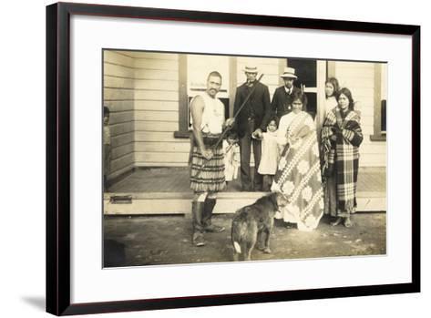 Family Group, C.1920--Framed Art Print