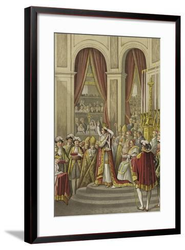 Coronation of Napoleon as Emperor of France, 1804--Framed Art Print