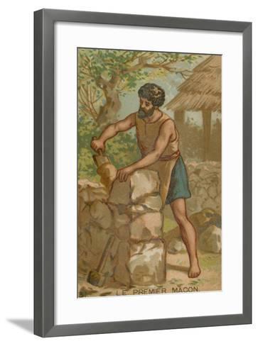 The First Mason--Framed Art Print