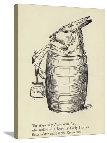 The Absolutely Abstemious Ass-Edward Lear-Stretched Canvas Print