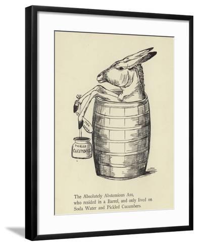 The Absolutely Abstemious Ass-Edward Lear-Framed Art Print