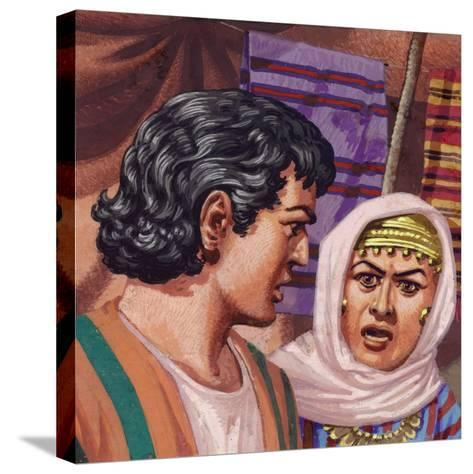 Joseph with the Wife of Potiphar-Pat Nicolle-Stretched Canvas Print
