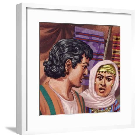 Joseph with the Wife of Potiphar-Pat Nicolle-Framed Art Print