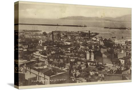 View of the Bay, Gibraltar--Stretched Canvas Print