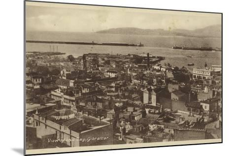 View of the Bay, Gibraltar--Mounted Photographic Print