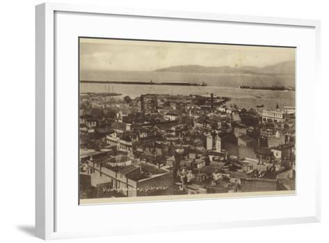View of the Bay, Gibraltar--Framed Art Print