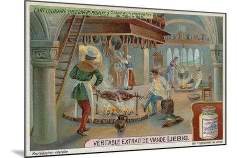 Kitchen of a Medieval Castle--Mounted Giclee Print