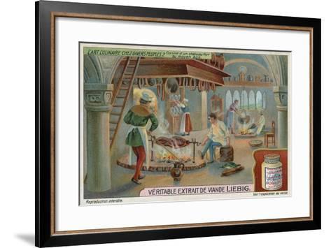 Kitchen of a Medieval Castle--Framed Art Print