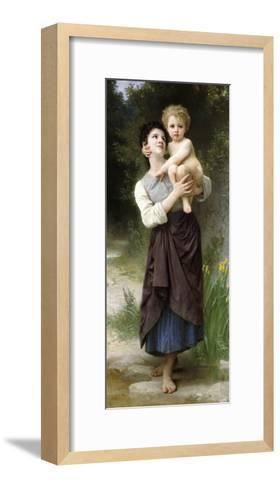 Brother and Sister, 1887-William Adolphe Bouguereau-Framed Art Print