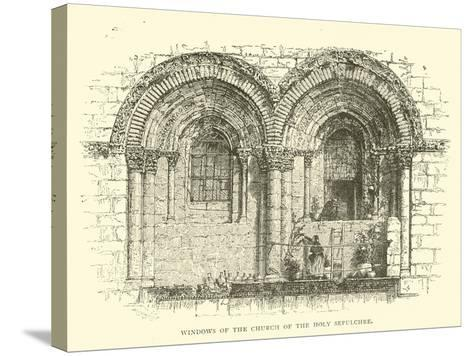 Windows of the Church of the Holy Sepulchre--Stretched Canvas Print