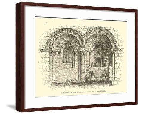 Windows of the Church of the Holy Sepulchre--Framed Art Print