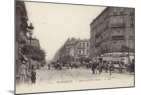 Postcard Depicting the Boulevard Des Dames--Mounted Photographic Print