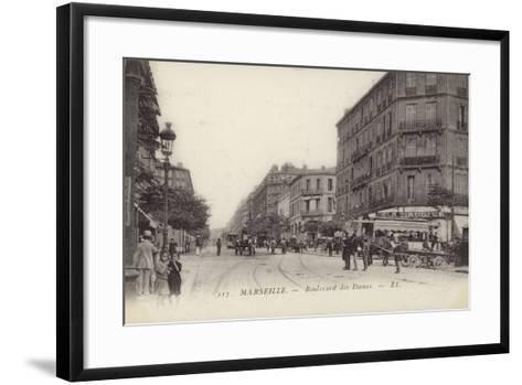 Postcard Depicting the Boulevard Des Dames--Framed Art Print