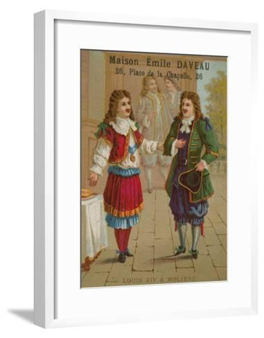 Louis XIV of France and Moliere--Framed Art Print