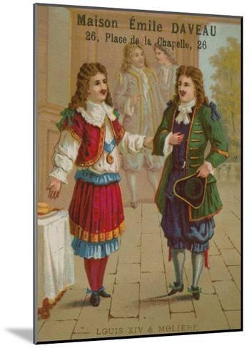 Louis XIV of France and Moliere--Mounted Giclee Print