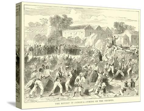 The Revolt in Jamaica, Firing on the Negroes--Stretched Canvas Print