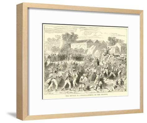 The Revolt in Jamaica, Firing on the Negroes--Framed Art Print