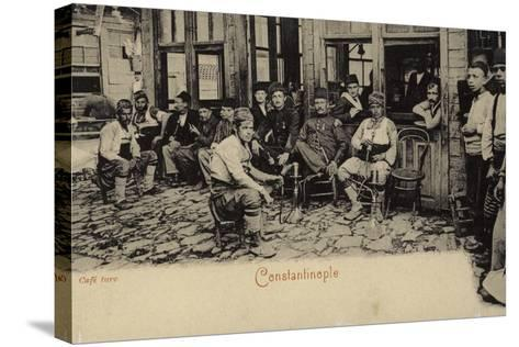 Turkish Coffee House, Constantinople, 1898--Stretched Canvas Print