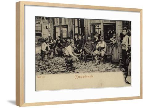 Turkish Coffee House, Constantinople, 1898--Framed Art Print