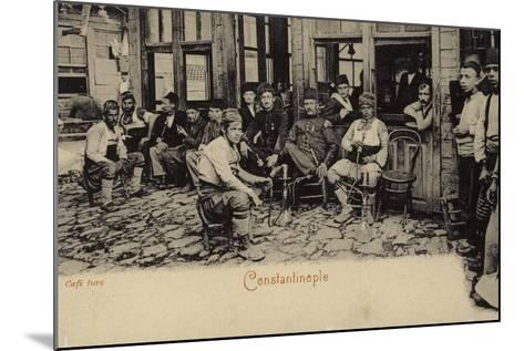 Turkish Coffee House, Constantinople, 1898--Mounted Photographic Print