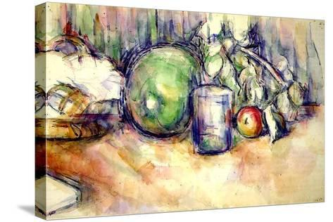 Still Life with a Glass, 1902-06-Paul C?zanne-Stretched Canvas Print