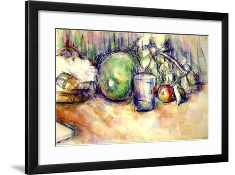 Still Life with a Glass, 1902-06-Paul C?zanne-Framed Art Print